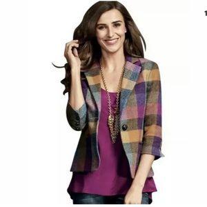 CAbi size 4 wool plaid blazer 927